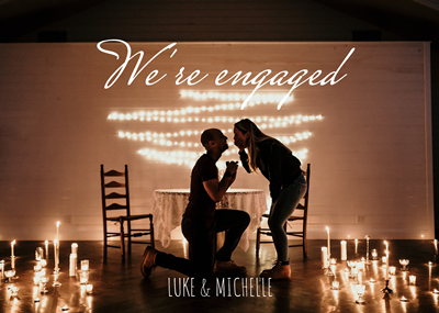 5x7 Engagement Announcement + Envelopes