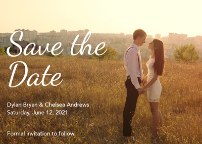 5x7 Save the Date Love + Envelopes